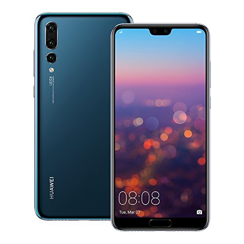 Huawei P20 Pro (CLT-L29) 6GB / 128GB 6.1-inches LTE Dual SIM Factory Unlocked - International Stock No Warranty (Midnight Blue)