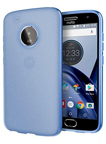Moto G5 Plus Case, Cimo [Matte] Premium Slim Protective Cover for Motorola Moto G5 Plus (2017) - Blue