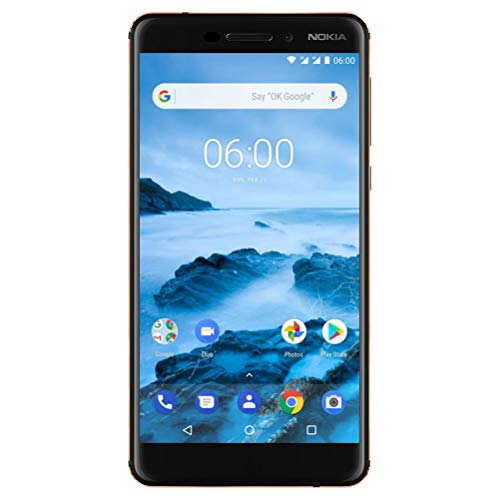 "Nokia 6.1 (2018) - Android One (Oreo) - 32 GB - Dual SIM Unlocked Smartphone (AT&T/T-Mobile/MetroPCS/Cricket/H2O) - 5.5"" Screen - Black - U.S. Warranty"
