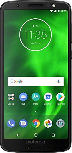 "Motorola Moto G6 Factory Unlocked Phone - 5.7"" Screen - 32GB - Black (U.S. Warranty)"