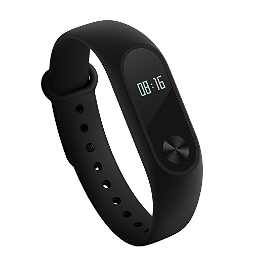 Xiaomi Mi Band 2 Fitness Activity Tracker Smart Bracelet Heart Rate Monitor Bluetooth 4.0 Pedometer Sleep Monitor Sport Wristband Smartwatch IP67 Waterproof for Android and IOS [Global Version]