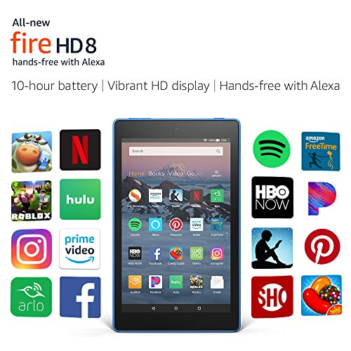 "All-New Fire HD 8 Tablet | Hands-Free with Alexa | 8"" HD Display, 16 GB, Marine Blue - with Special Offers"