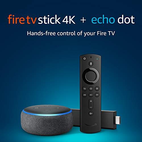 Fire TV Stick 4K bundle with all-new Echo Dot (3rd Gen)