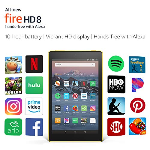 "All-New Fire HD 8 Tablet | Hands-Free with Alexa | 8"" HD Display, 16 GB, Canary Yellow - with Special Offers"
