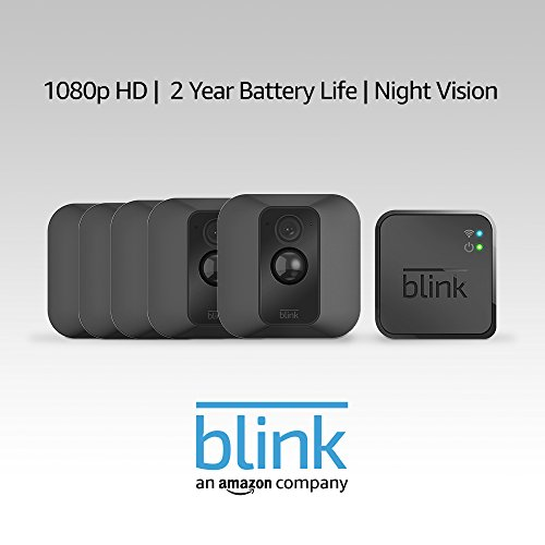 Blink XT Home Security Camera System with Motion Detection, Wall Mount, HD Video, 2-Year Battery Life and Cloud Storage Included - 5 Camera Kit