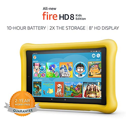 "All-New Fire HD 8 Kids Edition Tablet, 8"" HD Display, 32 GB, Yellow Kid-Proof Case"