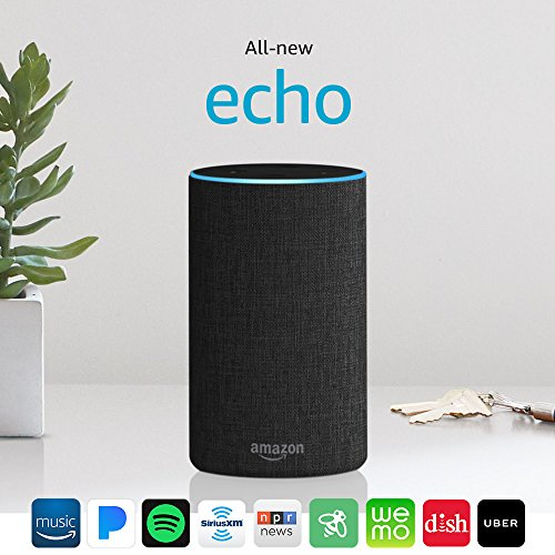 Certified Refurbished All-new Echo (2nd Generation) with improved sound, powered by Dolby, and a new design - Charcoal Fabric