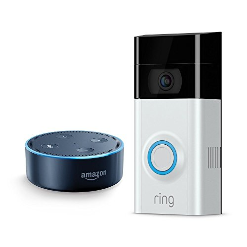 Ring Video Doorbell 2 + Echo Dot (2nd Generation) - Black