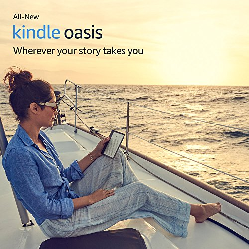 "Kindle Oasis E-reader - Champagne Gold, 7"" High-Resolution Display (300 ppi), Waterproof, Built-In Audible, 32 GB, Wi-Fi - with Special Offers"
