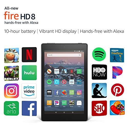 "All-New Fire HD 8 Tablet | Hands-Free with Alexa | 8"" HD Display, 16 GB, Black"