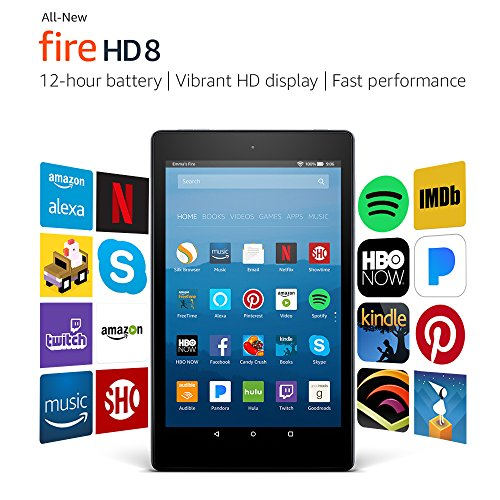 """Certified Refurbished Fire HD 8 Tablet with Alexa, 8"""" HD Display, 32 GB, Black - with Special Offers (Previous Generation - 7th)"""