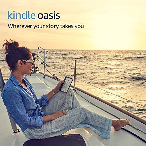 "Kindle Oasis E-reader - Graphite, 7"" High-Resolution Display (300 ppi), Waterproof, Built-In Audible, 32 GB, Wi-Fi + Free Cellular Connectivity"