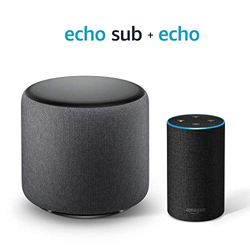 Echo Sub Bundle with Echo (2nd Gen) - Charcoal Fabric