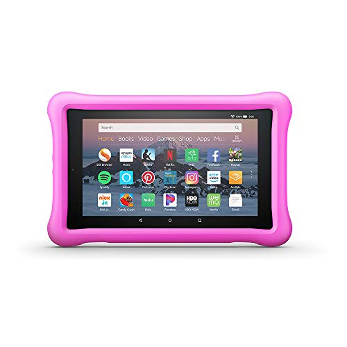 Amazon Kid-Proof Case for Amazon Fire HD 8 Tablet (Compatible with 7th and 8th Generation Tablets, 2017-2018 Releases), Pink