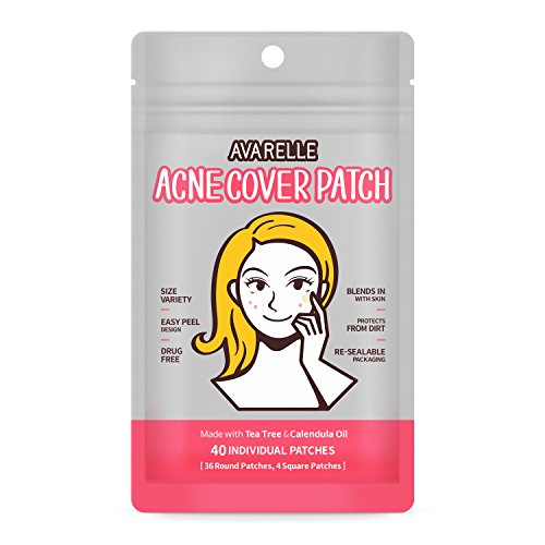 Avarelle Acne Cover Spot Patch Hydrocolloid, Tea Tree & Calendula Oil (40 Count)