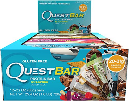 Quest Nutrition Protein Bar, Best Seller Variety Pack, High Protein, Low Carb, Gluten Free, Soy Free, Keto Friendly, 12 Count