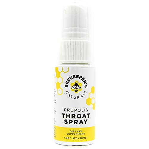 Bee Propolis Throat Spray by Beekeeper's Naturals | Premium 95% Bee Propolis Extract | Natural Throat Relief and Immune Support | Great for Kids
