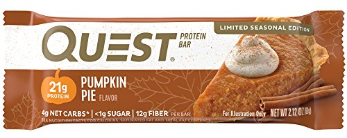 Quest Nutrition Protein Bar, Pumpkin Pie, 12 Count