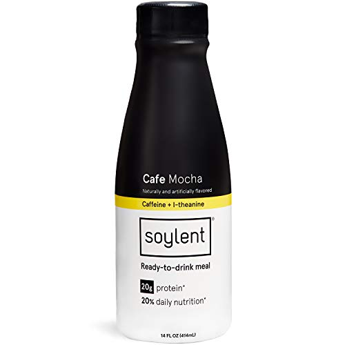 Soylent Meal Replacement Shake, Cafe Coffiest/Cafe Mocha, 14 oz Bottles, Pack of 12 (Packaging May Vary)