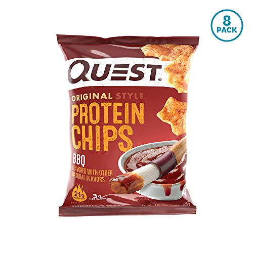 Quest Nutrition BBQ Protein Chips, Low Carb, Gluten Free, Soy Free, Potato Free, Baked, 8 Count