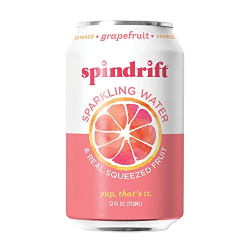 Spindrift Grapefruit Sparkling Water, 12-Fluid-Ounce Cans, Pack of 24