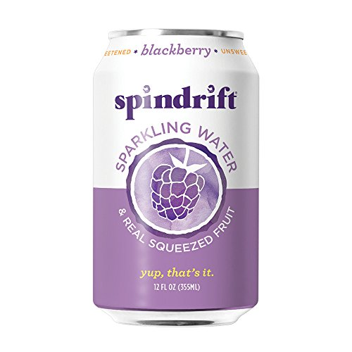 Spindrift Blackberry Sparkling Water, 12-Fluid-Ounce Cans, Pack of 24