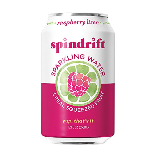 Spindrift Raspberry Lime Sparkling Water, 12-Fluid-Ounce Cans, Pack of 24