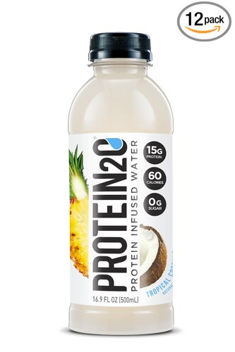 Protein2o Low-Calorie Protein Infused Water, 15g Whey Protein Isolate, Tropical Coconut (16.9 Ounce, Pack of 12)
