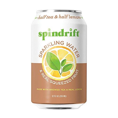 Spindrift Half Tea & Half Lemon Sparkling Water, 12-Fluid-Ounce Cans, Pack of 24