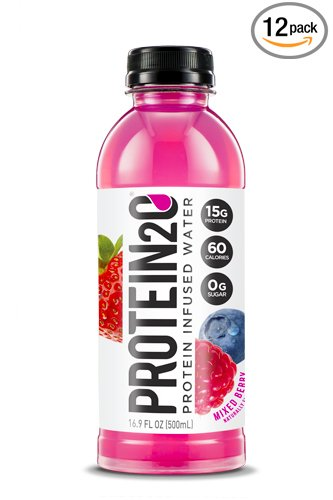 Protein2o Low-Calorie Protein Infused Water, 15g Whey Protein Isolate, Mixed Berry (16.9 Ounce, Pack of 12)