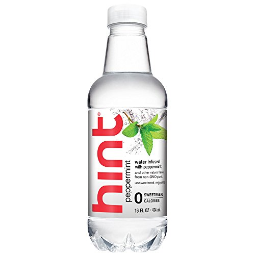 Hint Water Peppermint (Pack of 12) 16 Ounce Bottles, Pure Water Infused with Peppermint, Zero Sugar, Zero Calories, Zero Sweeteners, Zero Preservatives, Zero Artificial Flavors