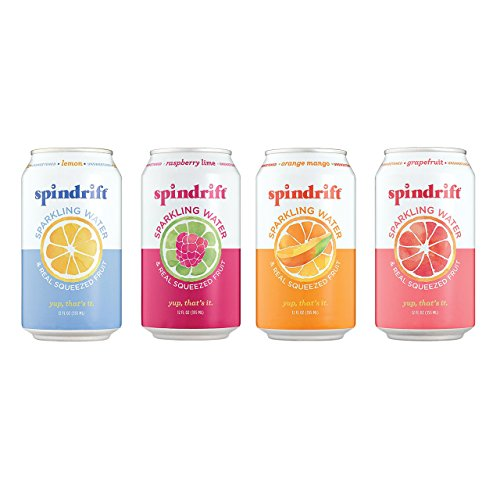 Spindrift Sparkling Water 4 Flavor Variety Pack, 20 Count
