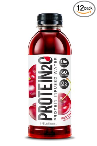 Protein2o Low-Calorie Protein Infused Water, 15g Whey Protein Isolate, Wild Cherry (16.9 Ounce, Pack of 12)
