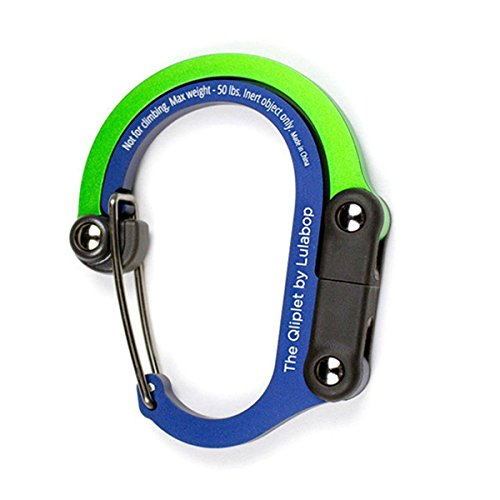 Lulabop Non-Locking Carabiner Rotating Hook Clip - Strong Clips Camping, Fishing, Hiking, Travel, Backpacking & Outdoor Adventure. Aluminum D Shape Hooks Heroclip