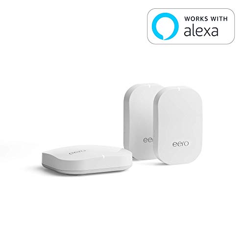 eero Home WiFi System (1 eero + 2 eero Beacon) - Advanced Tri-Band Mesh WiFi System to Replace Traditional Routers and WiFi Ranger Extenders - Coverage: 2 to 4 Bedroom Home
