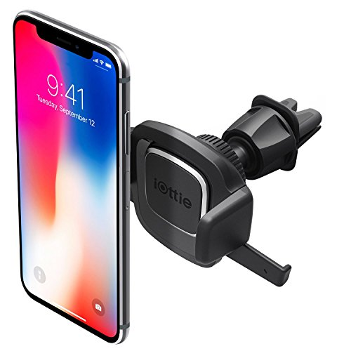 iOttie Easy One Touch 4 Air Vent Car Mount Phone Holder iPhone Xs Max R 8 Plus 7 Samsung Galaxy S9 S8 Edge S7 Note 9 & Other Smartphone