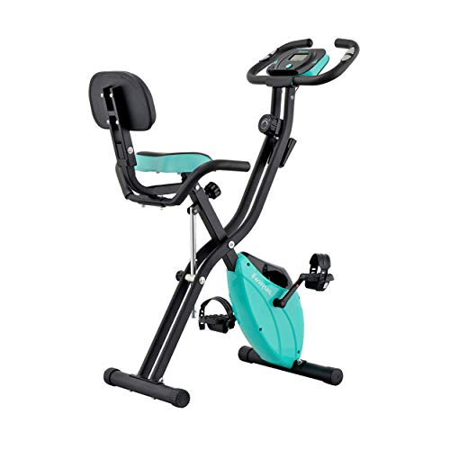 Harvil Foldable Magnetic Exercise Bike with 10-Level Adjustable Magnetic Resistance and Pulse Rate Sensors