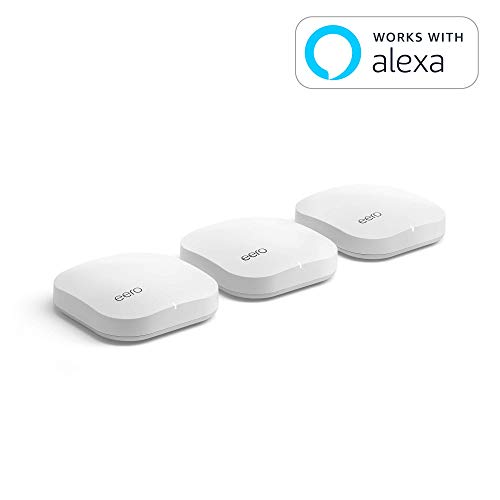 eero Pro WiFi System (Set of 3 eeros) - 2nd Generation - Advanced Tri-Band Mesh WiFi System to Replace Traditional Routers and WiFi Range Extenders - Coverage: 5+ Bedroom Home