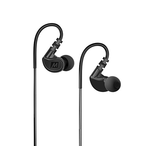 MEE audio M6 Memory Wire In-Ear Wired Sports Earbud Headphones (Black) (2018 Version)