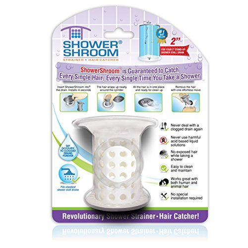 "ShowerShroom the Revolutionary 2"" Stand-Up Shower Stall Drain Protector Hair Catcher/Strainer"