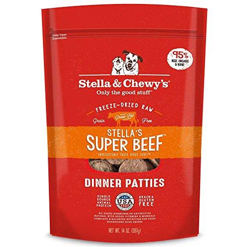 Stella & Chewy'S Freeze-Dried Raw Stella'S Super Beef Dinner Patties Grain-Free Dog Food, 25 Oz Bag