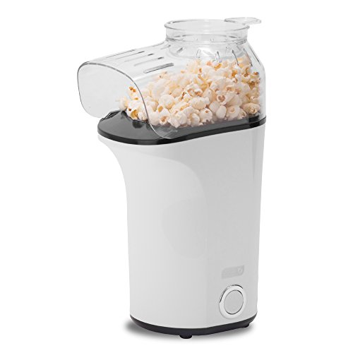 DASH Popcorn Machine: Hot Air Popcorn Popper + Popcorn Maker with Measuring Cup to Measure Popcorn Kernels + Melt Butter