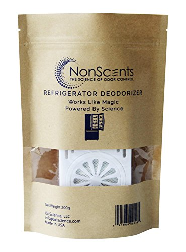 NonScents Refrigerator Deodorizer, 1pack - Lasts Up to 6 Months - Removes Odor Fast - Outperforms Baking Soda & Charcoal