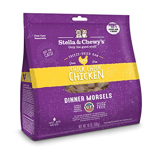 Stella & Chewy'S Freeze-Dried Raw Chick, Chicken Dinner Morsels Grain-Free Cat Food, 18 Oz