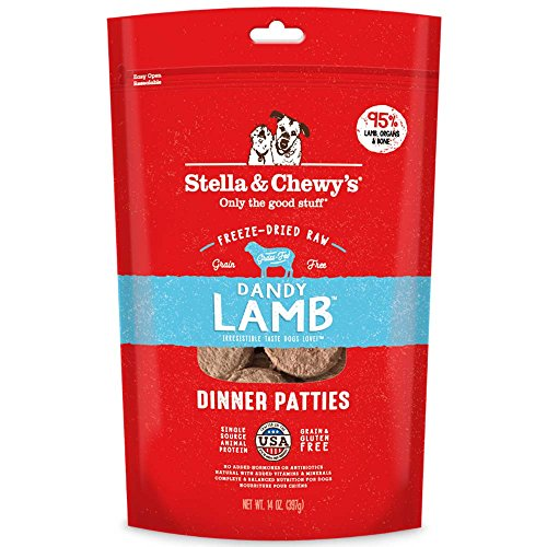 Stella & Chewy'S Freeze-Dried Raw Dandy Lamb Dinner Patties Dog Food, 14 Oz Bag