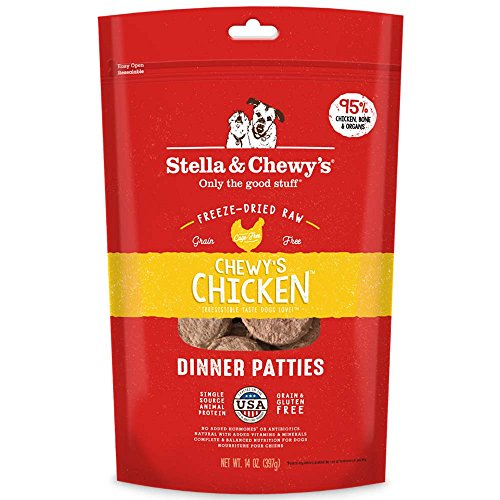 Stella & Chewy'S Freeze-Dried Raw Chewy'S Chicken Dinner Patties Dog Food, 14 Oz Bag