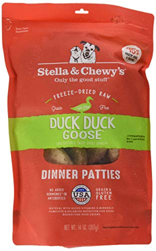 Stella & Chewy'S Freeze-Dried Raw Duck Duck Goose Dinner Patties Dog Food, 14 Oz. Bag