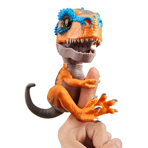Untamed T-Rex by Fingerlings - Scratch (Orange) - Interactive Collectible Dinosaur - By WowWee