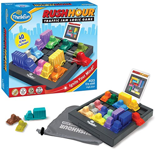 ThinkFun Rush Hour Traffic Jam Logic Game and STEM Toy for Boys and Girls Age 8 and Up - Tons of Fun With Over 20 Awards Won, International Bestseller for Over 20 Years