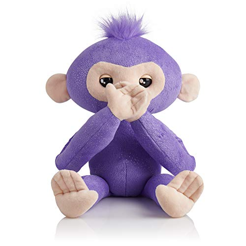Fingerlings HUGS - Kiki - Advanced Interactive Plush Baby Monkey Pet - by WowWee (Amazon Exclusive)